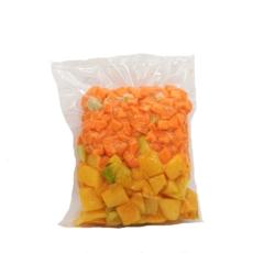 Mezcla sopa de ahuyama, zanahoria y jengibre